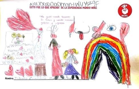 dibujo Mundo Noel