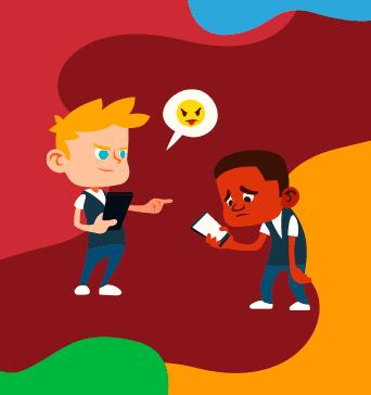 representación del bullying